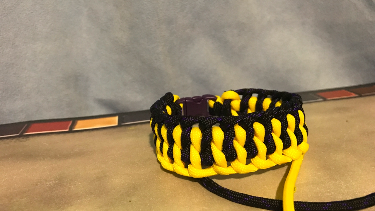 How to make wide genoese paracord bracelet