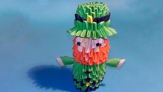 Модульное оригами Лепрекон пошаговое изготовление (мастер класс)