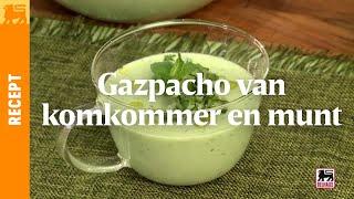 Gazpacho van komkommer en munt