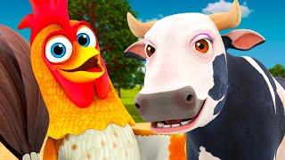 Поём без перерыва вместе с животными на ферме | Сборник песен | Детское Королевство