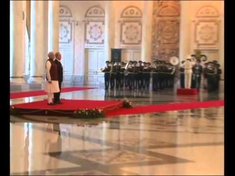 PM Modi at the ceremonial reception in Akorda Presidents Palace, Kazakhstan