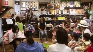 8月26日に島村楽器エキスポシティ店で開催された親子イベント絵本と音楽...