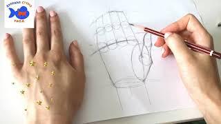 Как Рисовать  Аниме Кисть. Уроки рисования