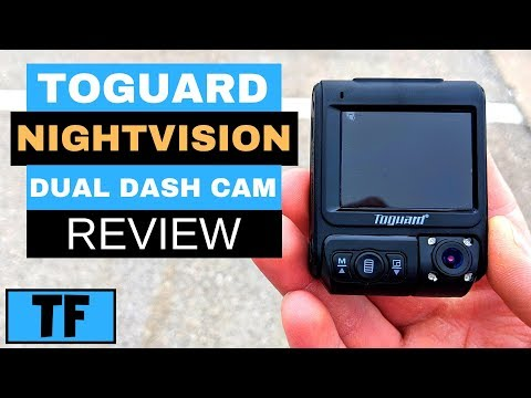 Toguard Dash Cam (IR Night Vision) CE46 For Lyft And Uber 2019 (Dual Lens) Review - Best Dash Cam?