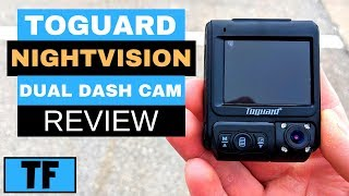 Toguard Dash Cam (IR Night Vision) CE46 for Lyft and Uber 2019 (Dual Lens) Review - Best Dash Cam?