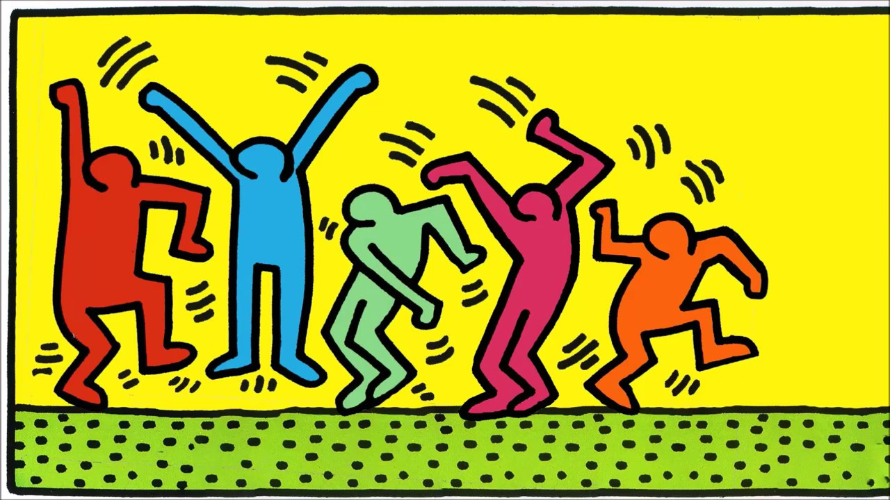 Image result for keith haring dancing man