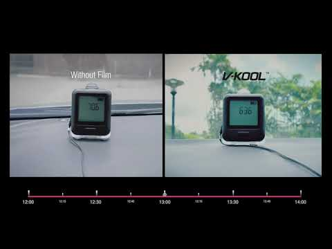 With V KOOL Window Film vs Without TimeLapse