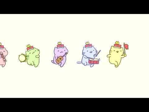 みっちりねこマーチ   MitchiriNeko March  Cute cat characters in a marching band!