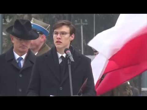 Lublin: Odsłonięcie pomnika Nieznanego Żołnierza 11.01.2018