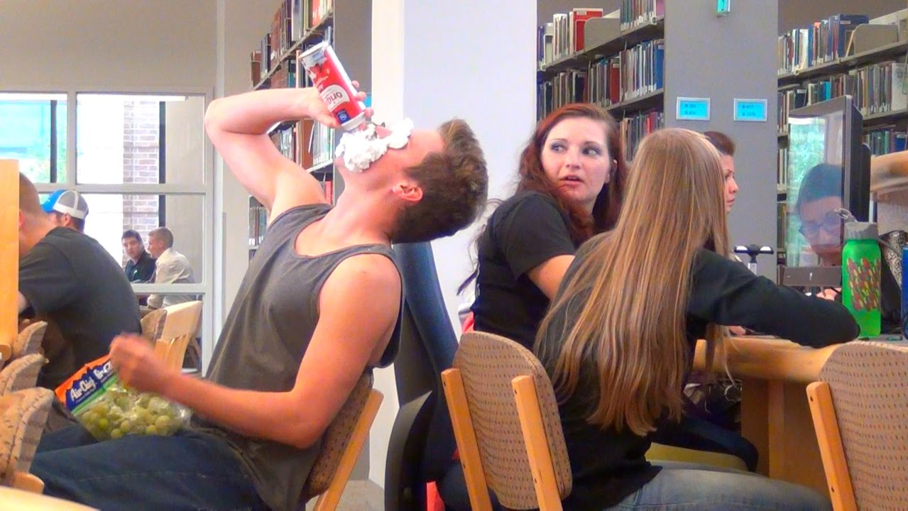 Image result for people acting weird in the library