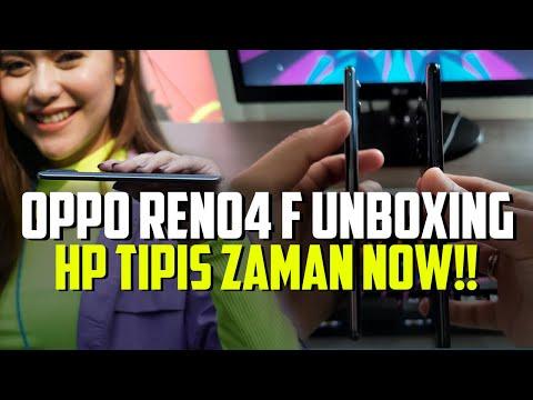 OPPO RENO4 F UNBOXING: HP Tipis Zaman Now..!!