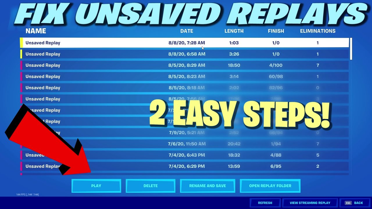 How to get your Unsaved Replays back & Play them! (Latest)