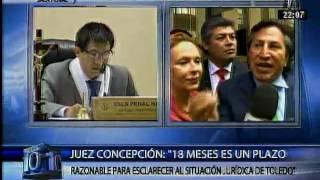 Dictan 18 meses de prisión preventiva y orden de captura internacional contra Alejandro Toledo