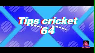 How to play straight drive - tips cricket 64.