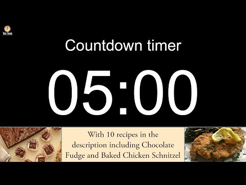 5 minute Countdown timer (with alarm)