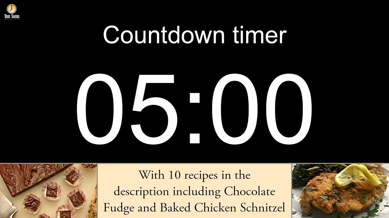 5 minute Countdown timer (with alarm) - YouTube