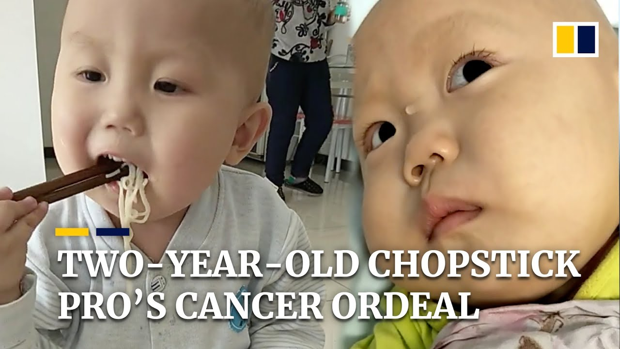 """Download """"He can't help but be scared"""": two-year-old chopstick pro's cancer ordeal"""