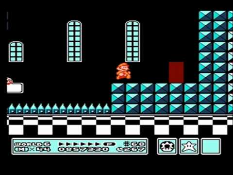 Super Mario Bros  3 - World 6-Fortress #1 - YouTube