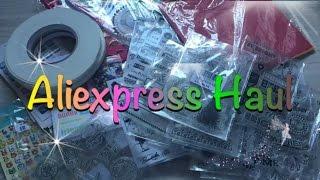 Aliexpress Haul (Juli 2016) deutsch Washi, Sticker, Clearstamps