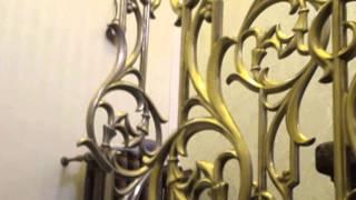 видео Литые чугунные балясины для лестниц из металла, фото