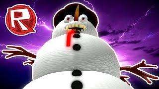ROBLOX 🐰 | EVIL SNOWMAN EATS KIDS! | Christmas Obby