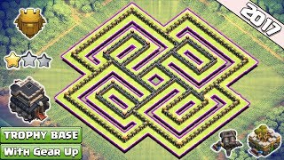 Clash of Clans Town Hall 9 (TH9) Trophy Base With Gear Up ♦ TH9 Trophy & Farming Base w New Update