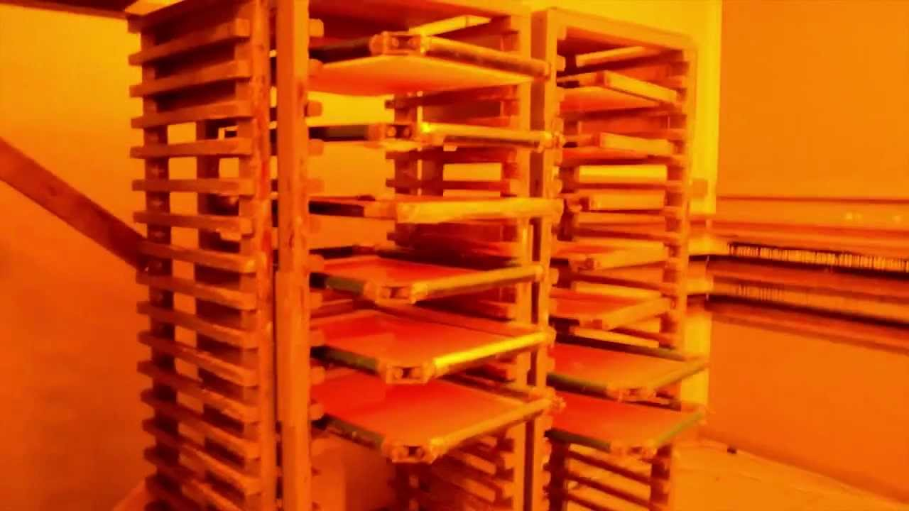 Screen Storage Racks : Inside the broken arrow darkroom silk screen printing