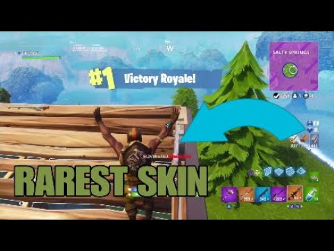 I WON WITH THE RAREST FORTNITE SKIN (FORTNITEBATTLE ROYALE)
