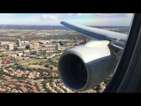 WINDY American Airlines Boeing 777-223ER Landing into Dallas/Fort Worth