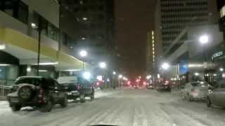 2014-02-19 Regina today (Saskatchewan drive, Hamilton street) snow w/ youtube music library