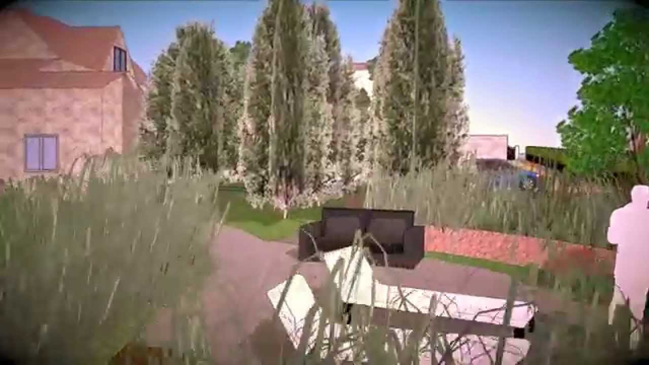 Vid o sketchup d 39 am nagement de jardin youtube for Sketchup jardin