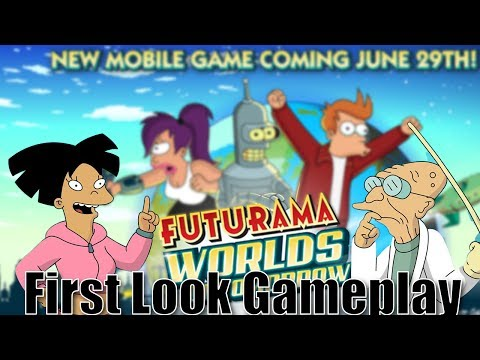 Futurama Worlds of Tomorrow Gameplay - Amy Wong and Professo