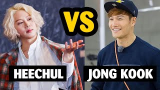 When savage Heechul talks to sparta Kim Jong Kook 😆😆😆