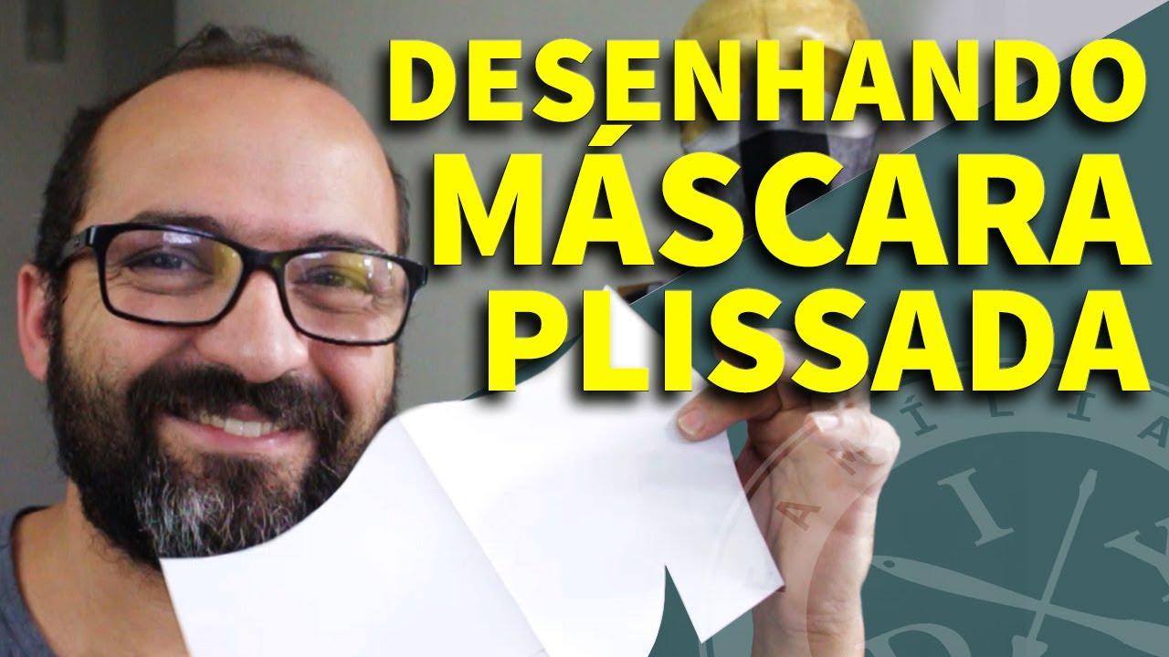 DESENHANDO MÁSCARA DE PROTEÇÃO PLISSADA - FAMÍLIA DIY