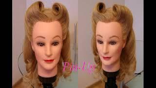 Причёска в стиле: Pin up. Видео-урок