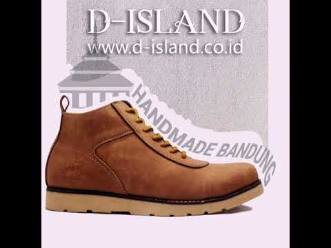 Sepatu Boots Pria D-Island Shoes Boots Loafers Ventura Comfort Leather Soft Brown