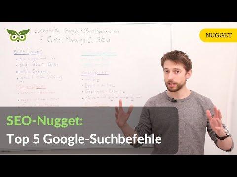 Top 5 Google-Suchoperatoren / Suchbefehle für SEO & Content Marketing