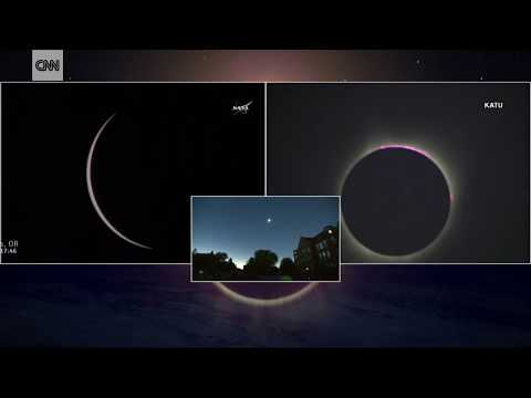 2017 eclipse: First moment of totality