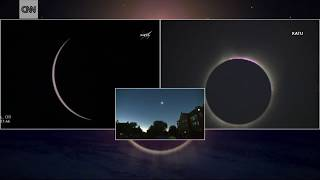 2017 eclipse First moment of totality