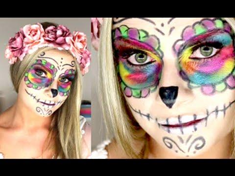 easy sugar skull makeup tutorial easy halloween makeup