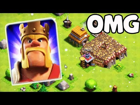 Unlimited Max Barbarian King Attack On Clash Of Clans | COC Funny GamePlay