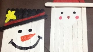Make An Easy Popsicle Stick Santa And Snowman - Diy Home - Guidecentral
