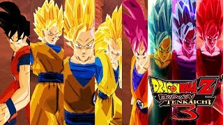 Goku (DB Super) Forms - Dragon Ball Z Budokai Tenkaichi 3 (MOD)