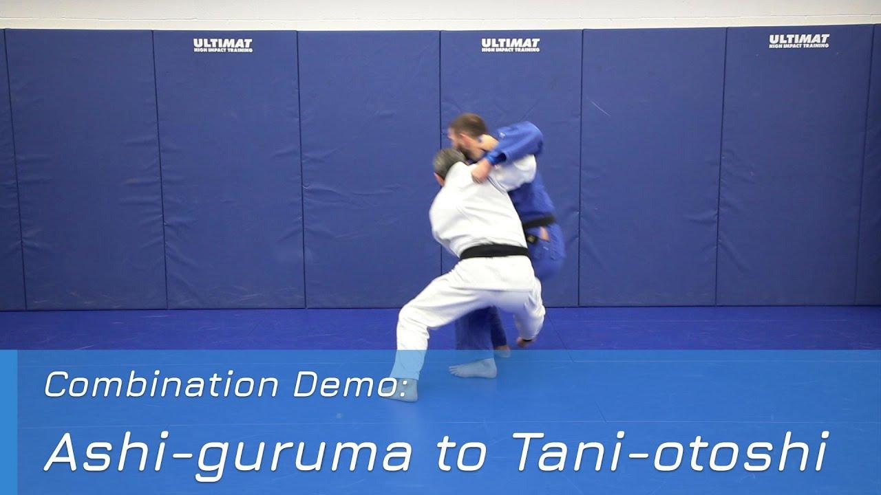 Ashi-guruma to Tani-otoshi - Combination demo