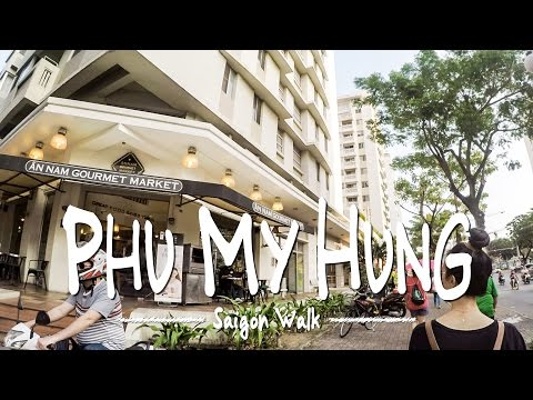 Saigon Walk: Phu My Hung / Nguyen Duc Canh Str., District 7, Ho Chi Minh City, Vietnam [4K]