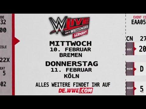 WWE Live: Road To WrestleMania Tour In Bremen, Köln, Mannheim & Magdeburg