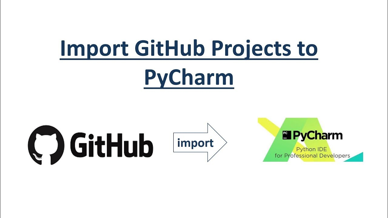 How to import github project into pycharm?
