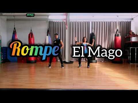 El Mago - Rompe Choreography ZUMBA  FITNESS  REGGAETON  At BOSTON GYM Balikpapan