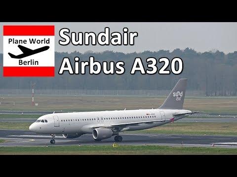 Sundair Airbus A320 *D-ASEF* landing in Berlin Tegel Airport