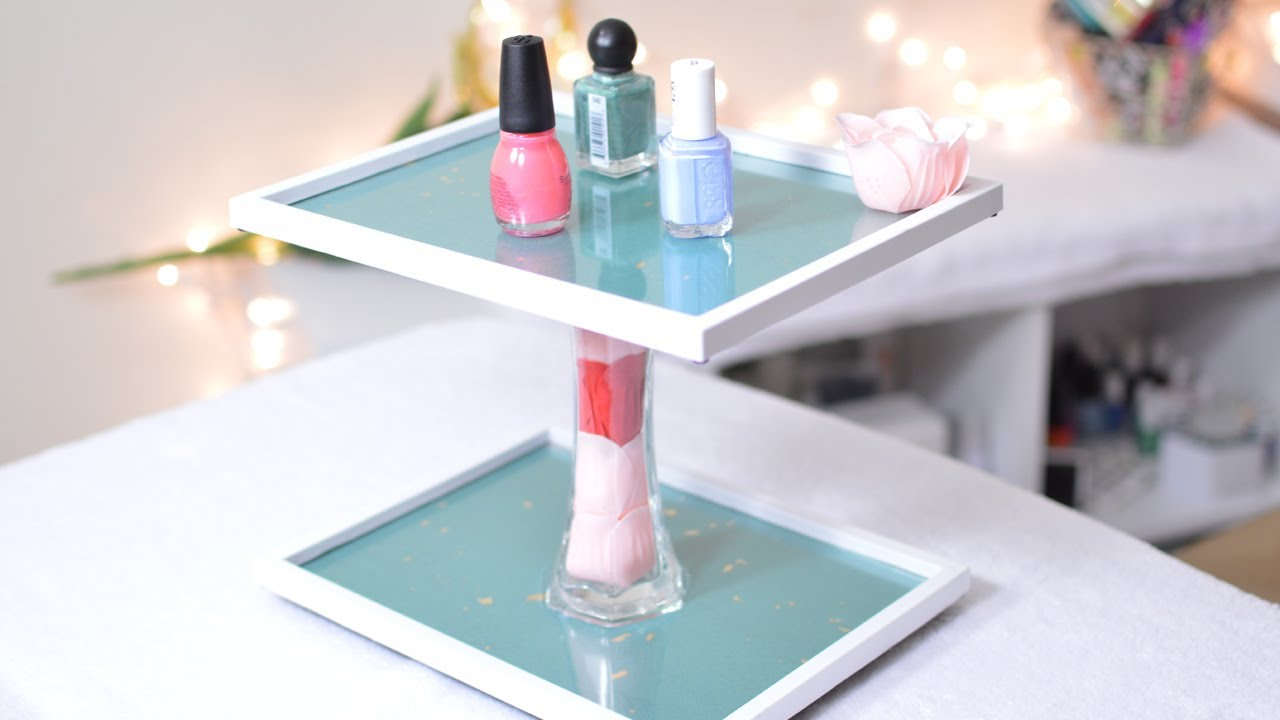 Expo Stands Eyeshadow : Diy rotating makeup stand youtube